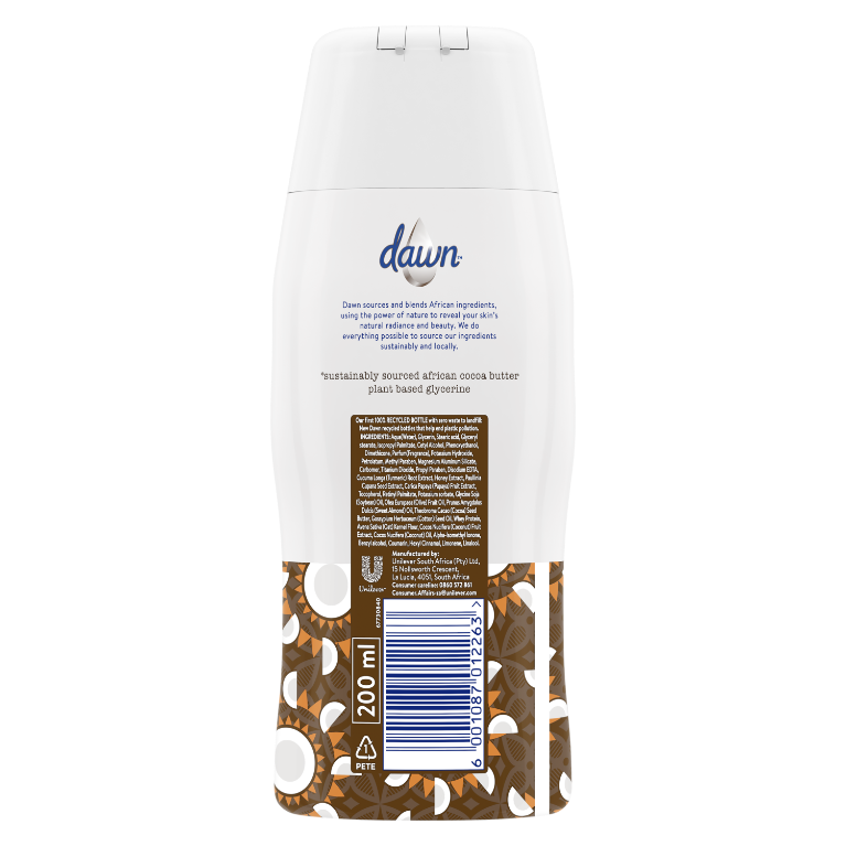 Dawn Cocoa Butter and Coconut Oil Nourishing Body Lotion 200ml